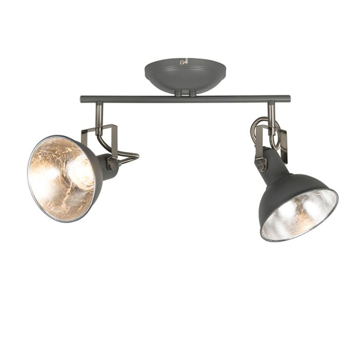 Plafondspot-antraciet-2-lichts-draai--en-kantelbaar---Tommy-2