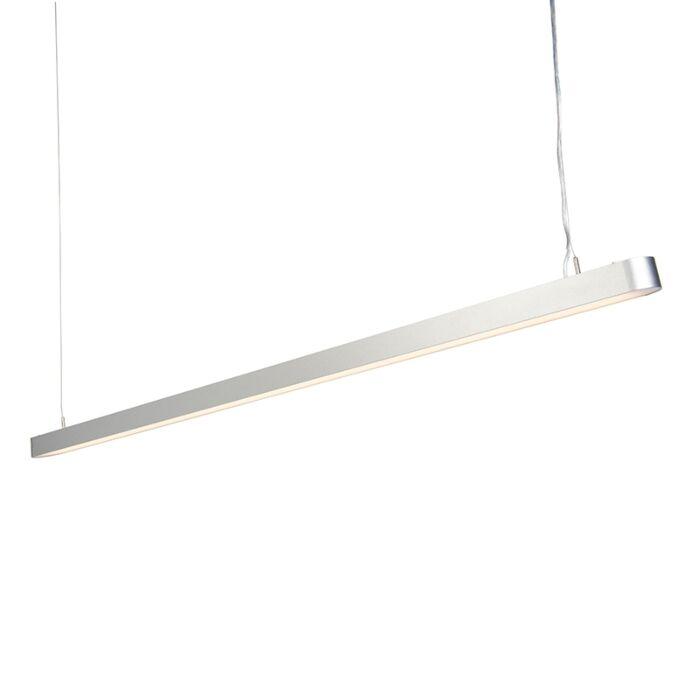 Moderne-langwerpige-hanglamp-zilver-160cm-incl.-LED---Duct-R