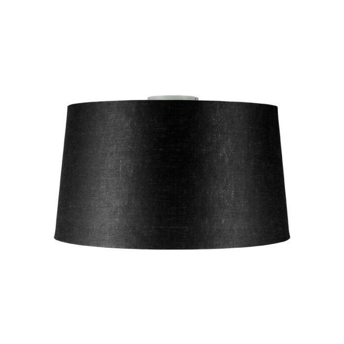 Moderne-plafondlamp-mat-wit-met-zwarte-kap-45-cm---Combi