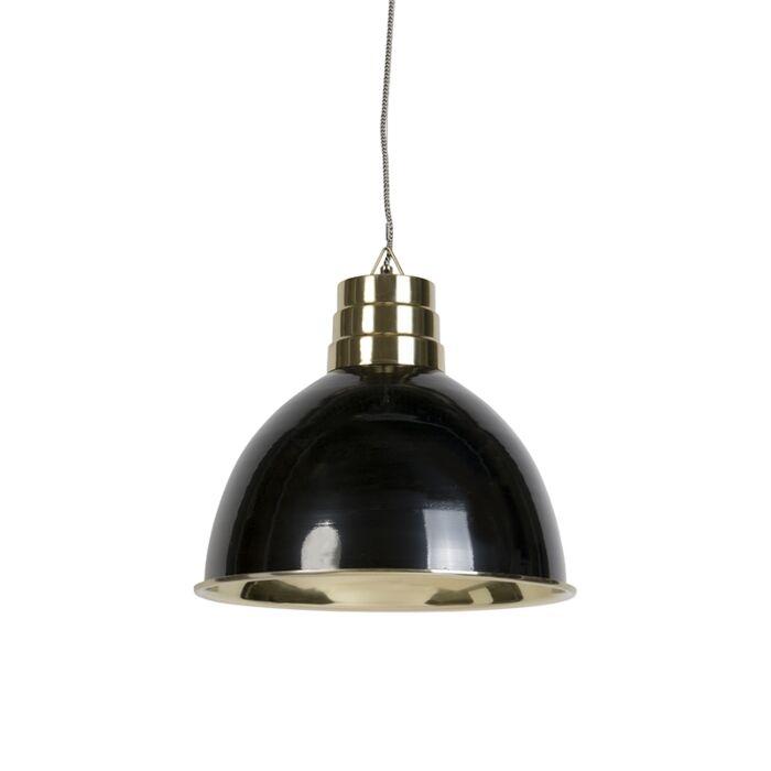 Art-deco-hanglamp-zwart-met-messing---Bombay