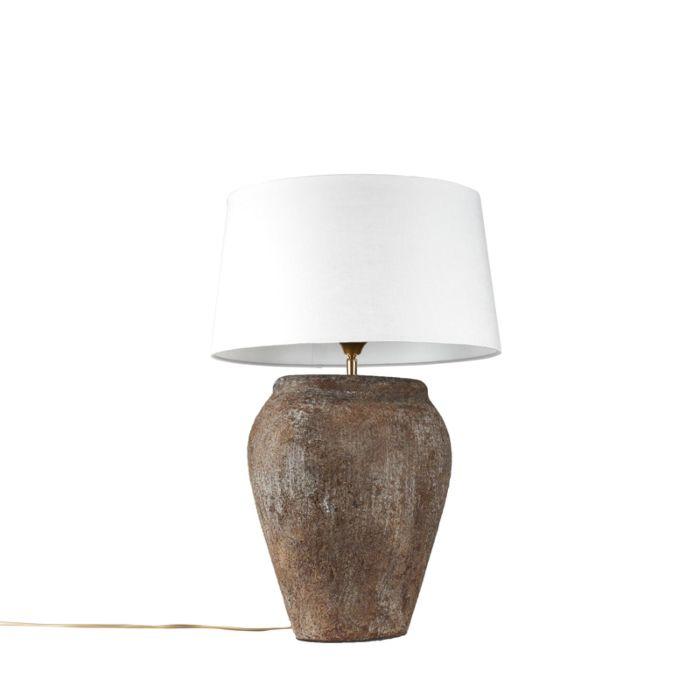 Tafellamp-Blava-ovaal-vintage-met-kap-45cm-wit