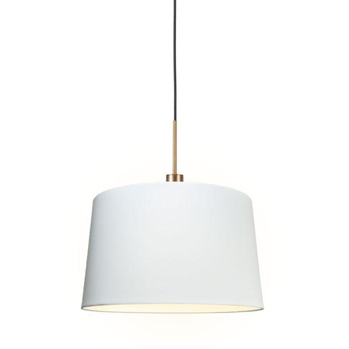 Moderne-hanglamp-brons-met-kap-45-cm-wit---Combi-1