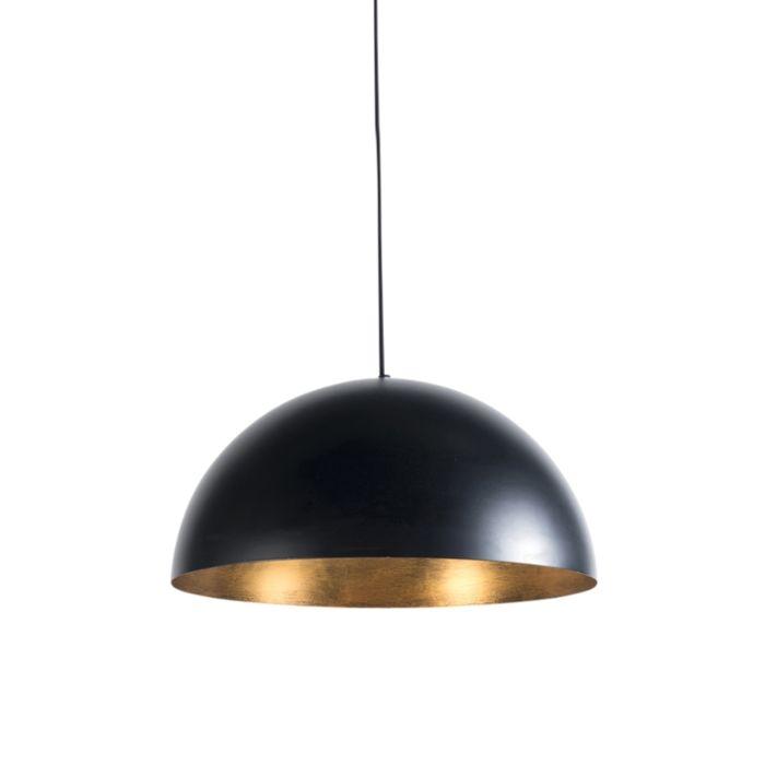 Industriële-hanglamp-zwart-met-goud-50-cm---Magna-Eco