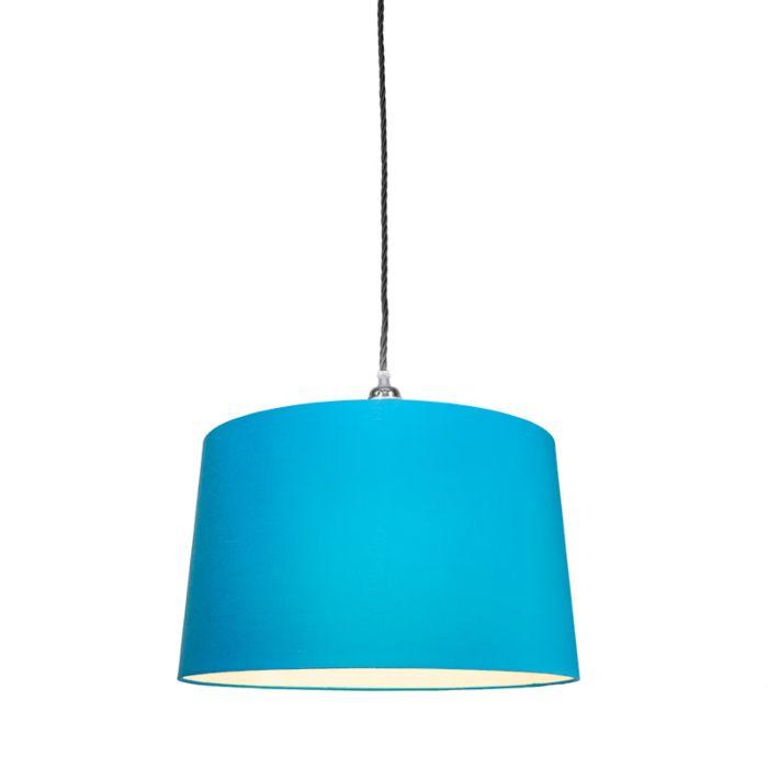 Hanglamp-Cavo-Classic-chroom---zwart-met-kap-45cm-blauw