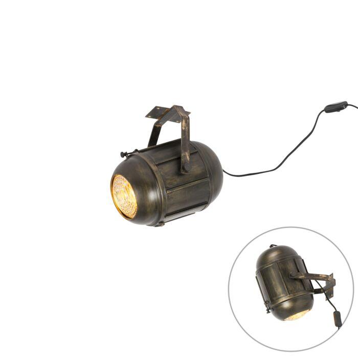 Vintage-filmspot-plafondlamp-antiek-brons---Broca