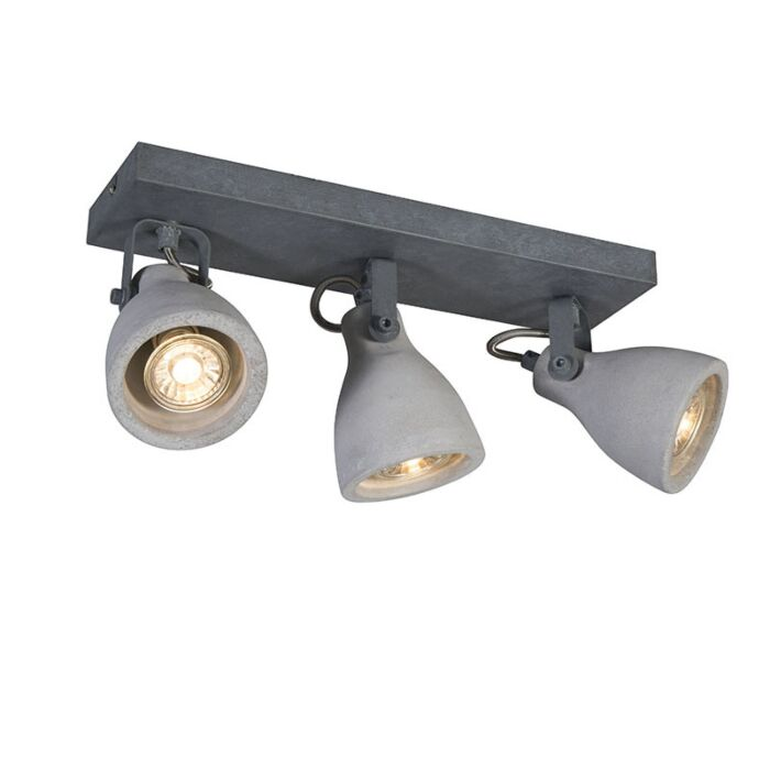 Industriële-spot-grijs-beton-3-lichts---Creto
