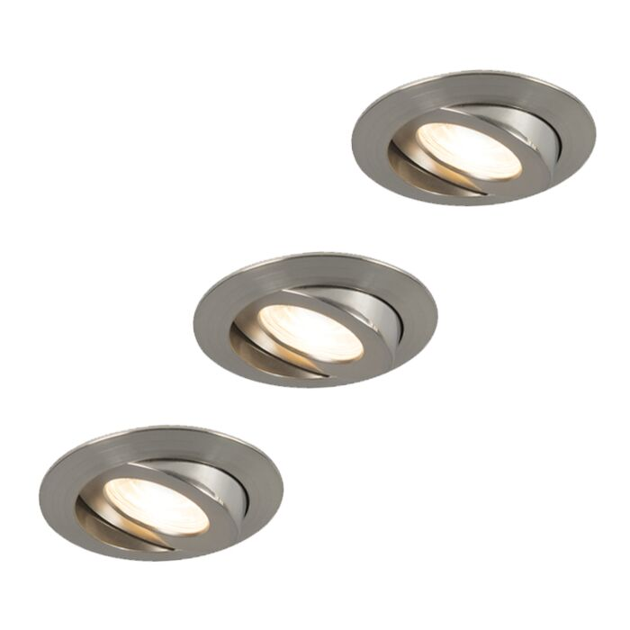 Set-van-3-inbouwspots-staal-incl.-LED-IP44---Relax-LED