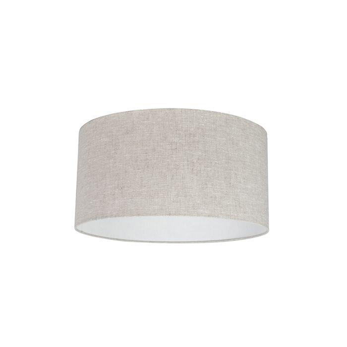 Stoffen-lampenkap-lichtgrijs-50/50/25
