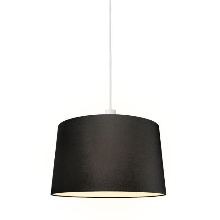 Moderne-hanglamp-wit-met-kap-45-cm-zwart---Combi-1