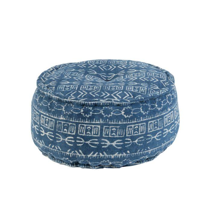 Oosterse-ronde-poef-Ø60cm-blauw---Varanasi