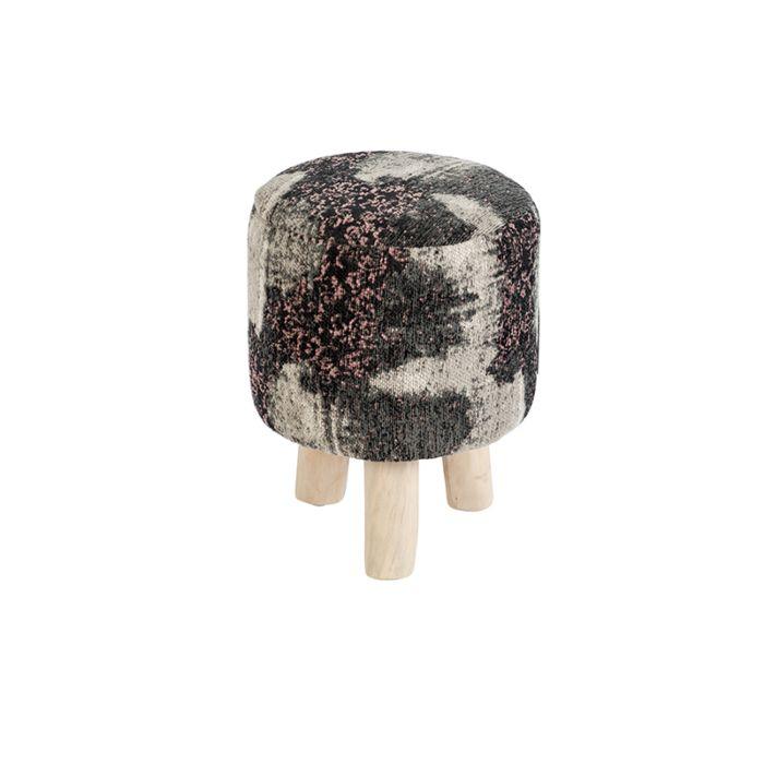 Vintage-rond-krukje-zwart/roze-30-x-30-x-40cm---Puri