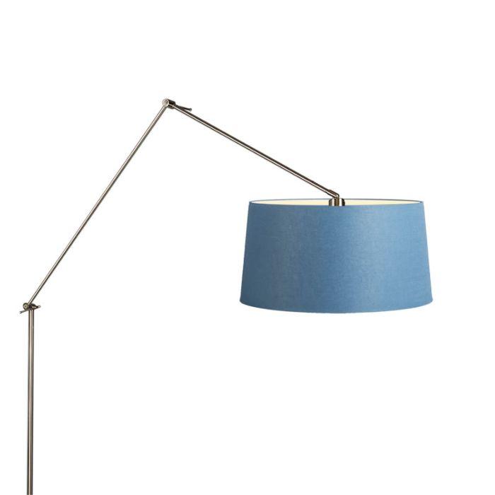 Vloerlamp-Editor-staal-met-kap-45cm-blauw