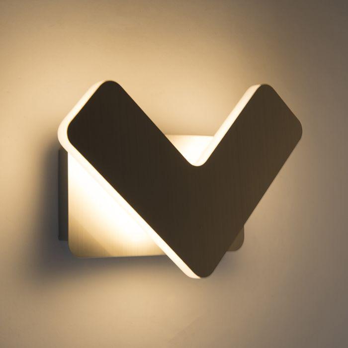 Moderne-wandlamp-LED-staal---Check