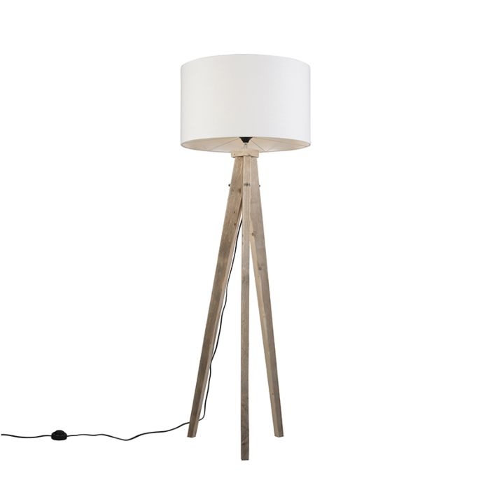 Vloerlamp-Karos-naturel-met-kap-55cm-wit