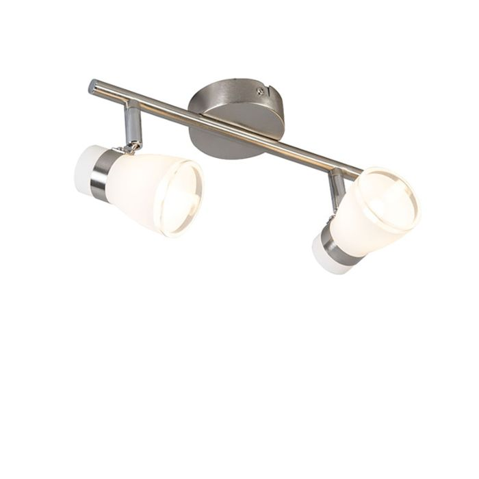 Plafond--en-wandspot-staal-draai--en-kantelbaar-2-lichts---Nadia
