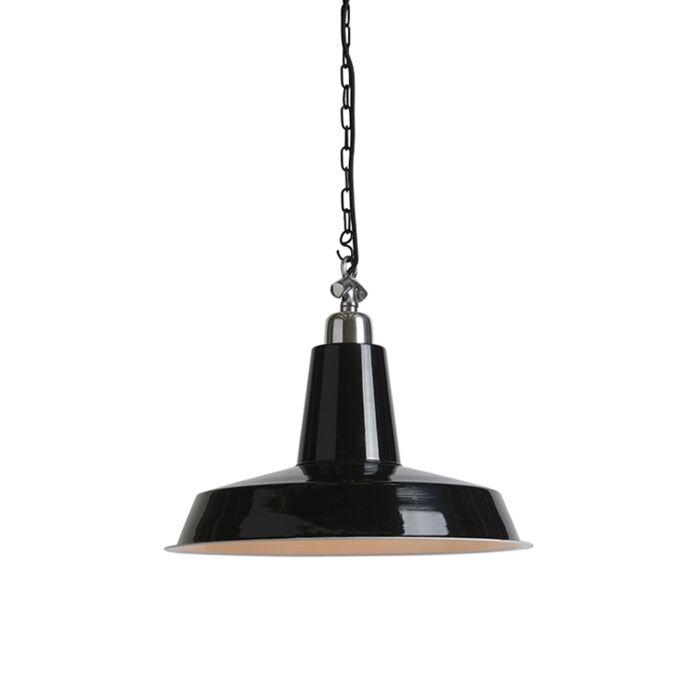 Industriële-hanglamp-zwart---Warrior