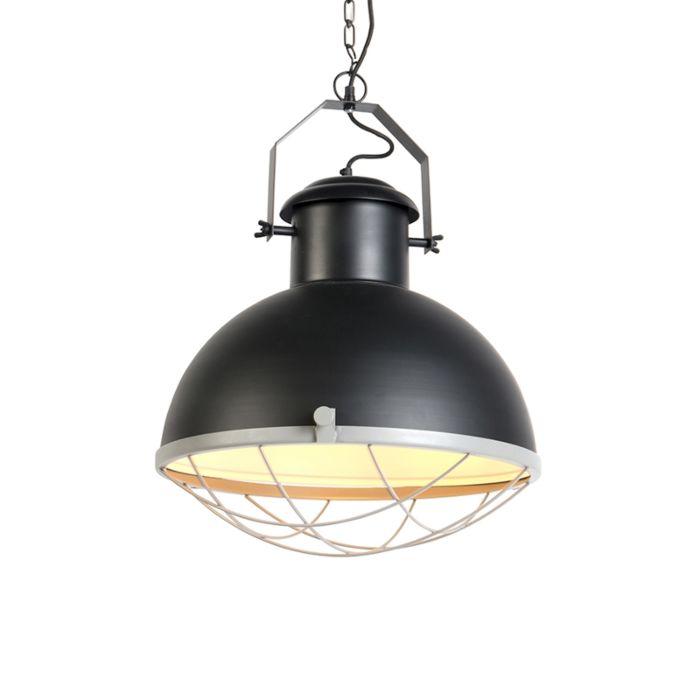 Industriële-hanglamp-zwart-met-grijs---Engine