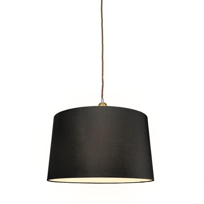 Hanglamp-Cavo-Classis-goud-bruin-met-kap-45cm-zwart