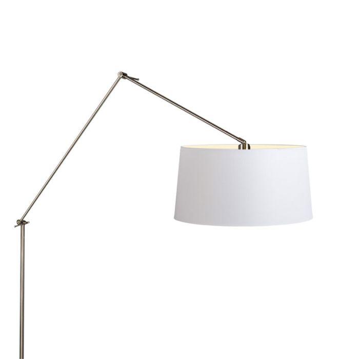 Vloerlamp-Editor-staal-met-kap-45cm-wit