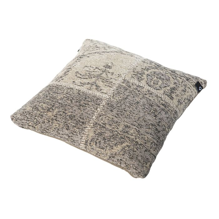 Vintage-vierkant-kussen-grijs-45-x-45cm---Agra