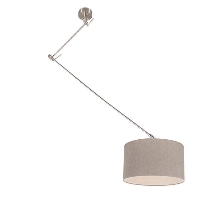 Hanglamp-staal-met-kap-35-cm-oud-grijs-verstelbaar---Blitz-I