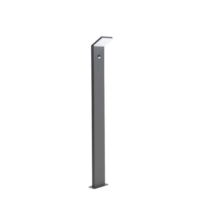 Moderne-buitenlamp-donkergrijs-100cm-incl.-LED-bewegingssensor---Mapi