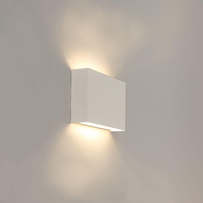 Moderne-rechthoekige-wandlamp-wit---Otan