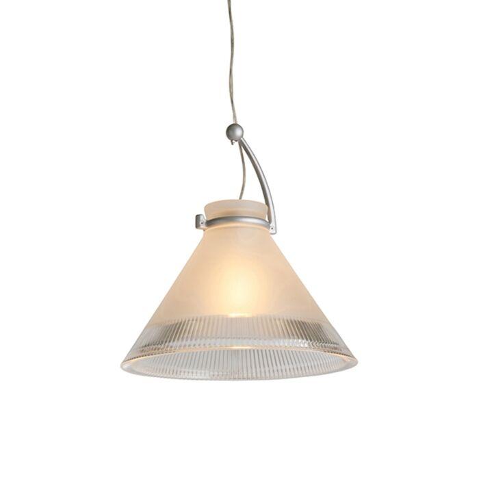 Hanglamp-Chris-mat-glas-met-heldere-rand