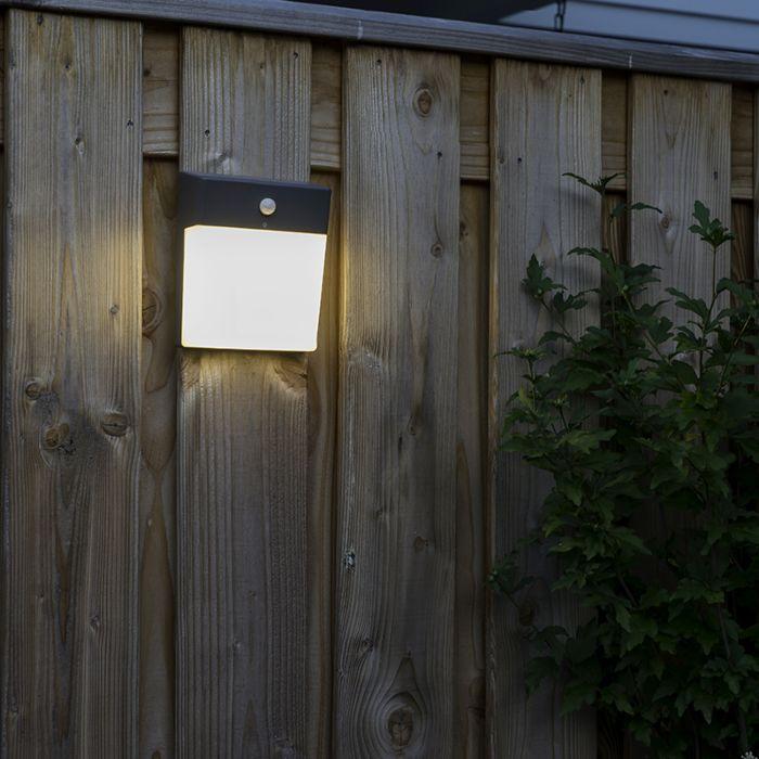 Buitenlamp-grijs-met-bewegingsmelder-LED-en-stickervel---Numbers