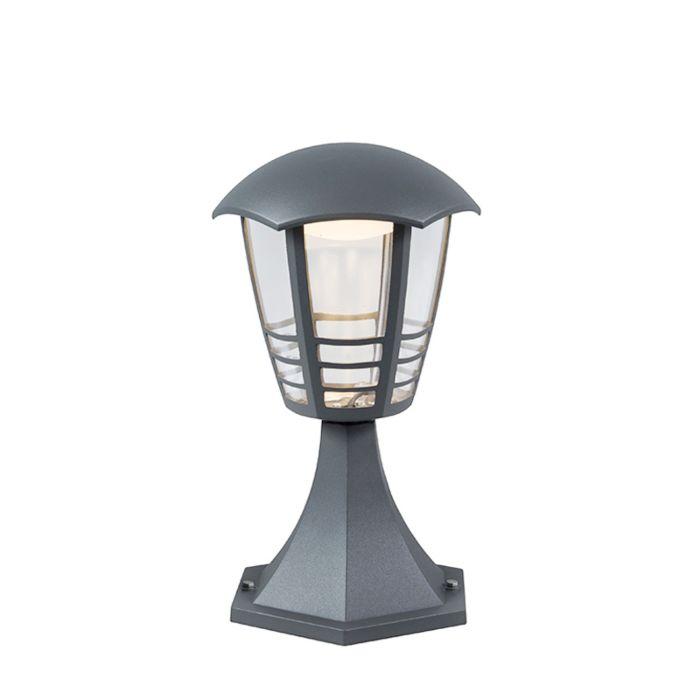 Moderne-buitenlamp-donkergrijs-30cm-incl.-LED---Mara