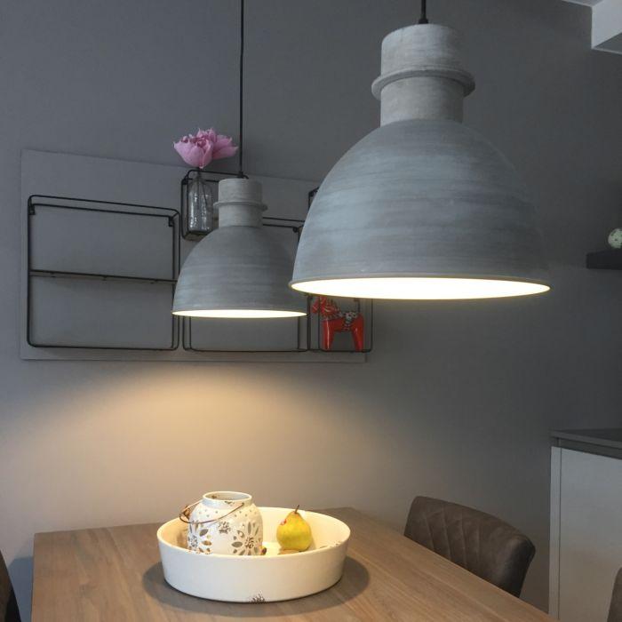 Set-van-2-landelijke-hanglampen-grijs---Dory