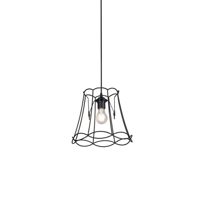 Retro-hanglamp-zwart-30-cm---Granny-Frame