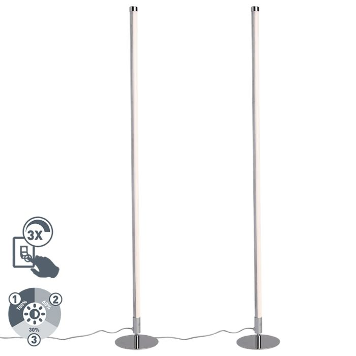 Set-van-2-moderne-vloerlampen-LED-chroom---Line-up