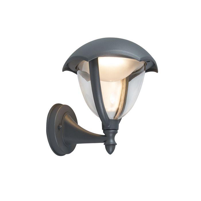 Moderne-buitenlamp-wand-up-aluminium-incl.-LED---Cappe