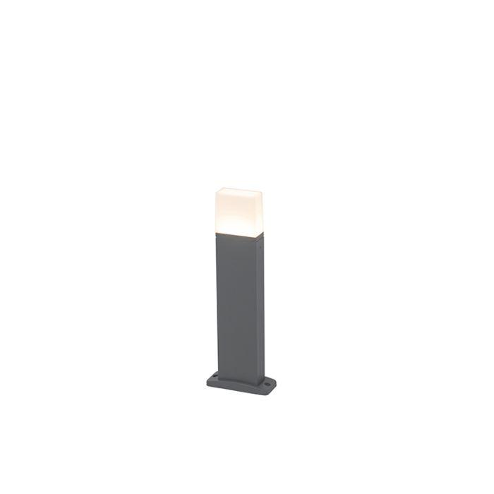 Moderne-buitenlamp-donker-grijs-45cm-incl.-LED-IP54---Malia