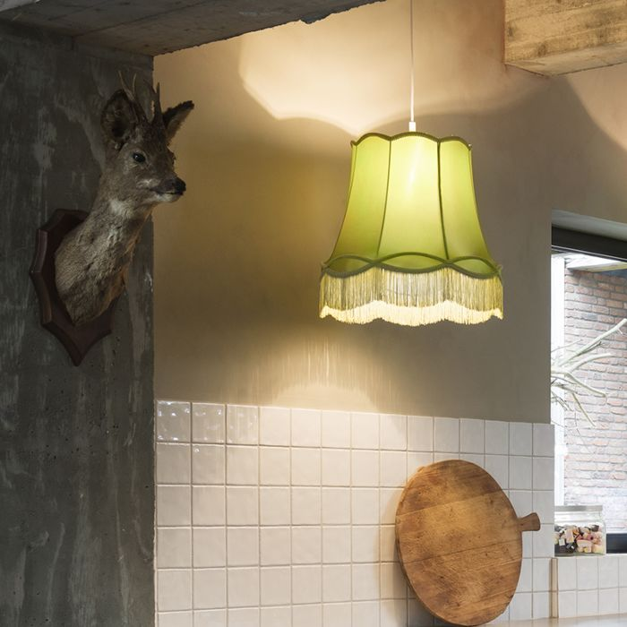 Retro-hanglamp-groen-45-cm---Granny