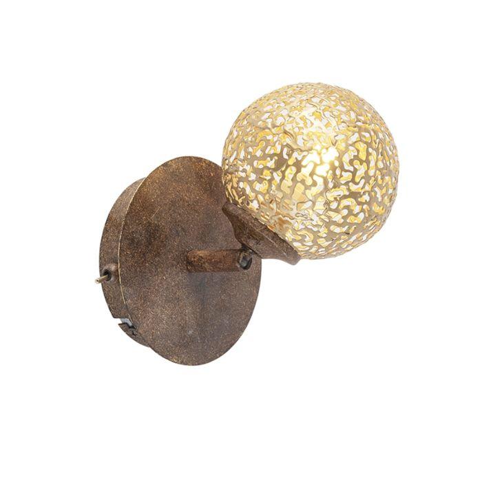 Wandlamp-roestbruin-verstelbaar-met-schakelaar---Kreta