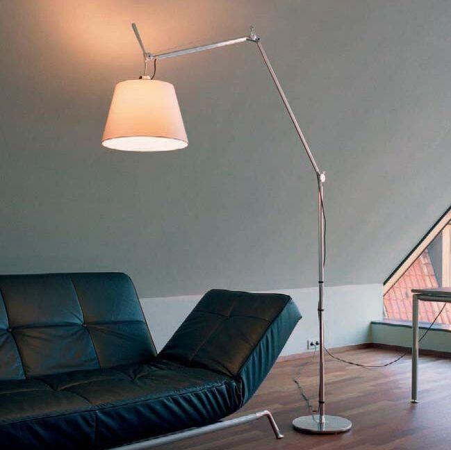 Vloerlamp-met-kap---Artemide-Tolomeo-Mega-Terra-aluminium