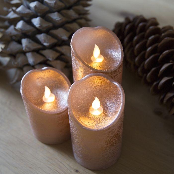 Kerstverlichting-decoratie-kaars-LED-koper-set-van-3