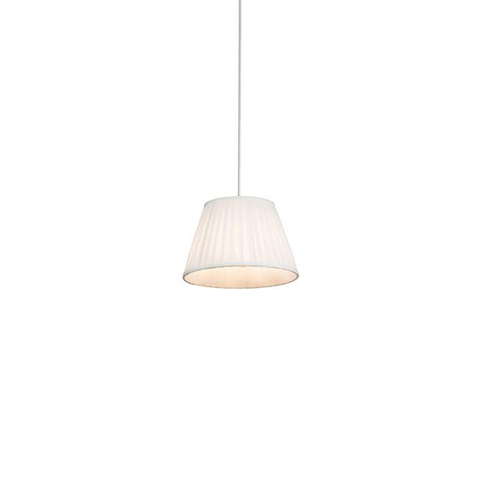 Retro-hanglamp-crème-25-cm---Plisse