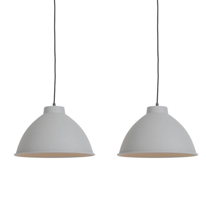 Set-van-2-Scandinavische-hanglampen-grijs---Anterio-38-Basic