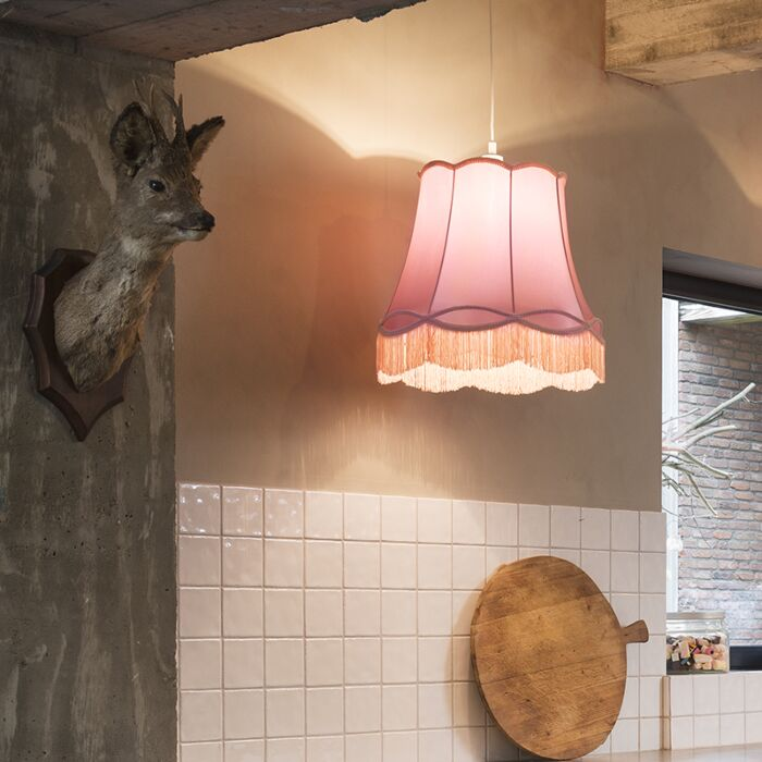 Retro-hanglamp-roze-45-cm---Granny