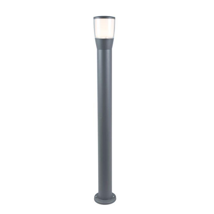Moderne-buitenlamp-paal-grijs-incl.-LED-100cm---Mona