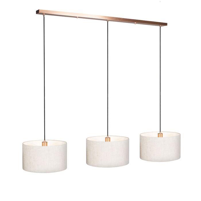 Hanglamp-Combi-3-koper-met-kap-35cm-peper