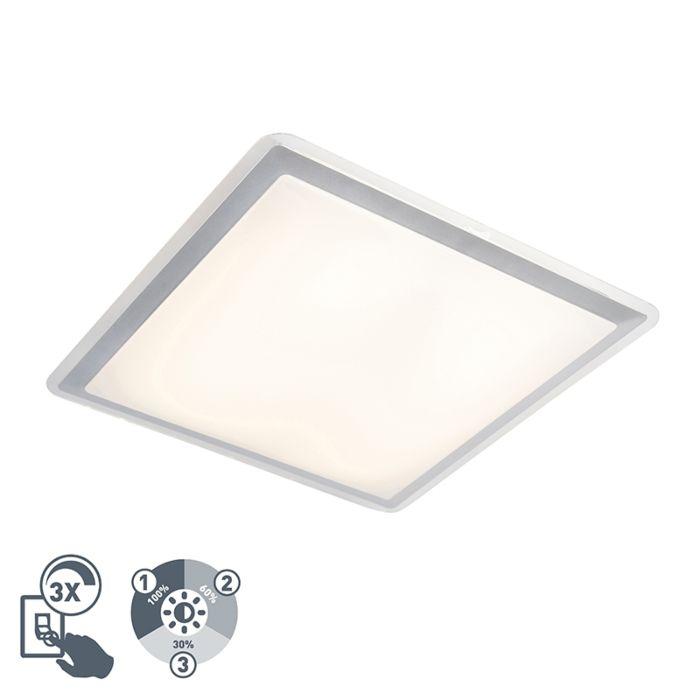 Moderne-vierkante-plafondlamp-43cm-20W-LED-staal---Labo