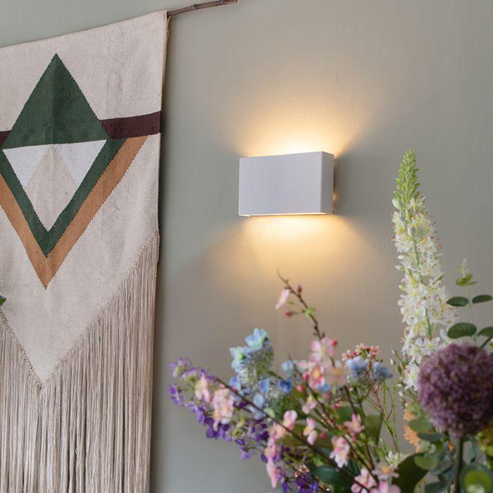 Moderne-wandlamp-wit---Otan