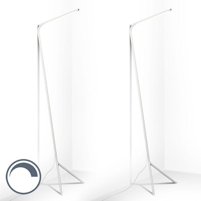 Set-van-2-design-vloerlamp-wit-incl.-LED---Lazy-Lamp