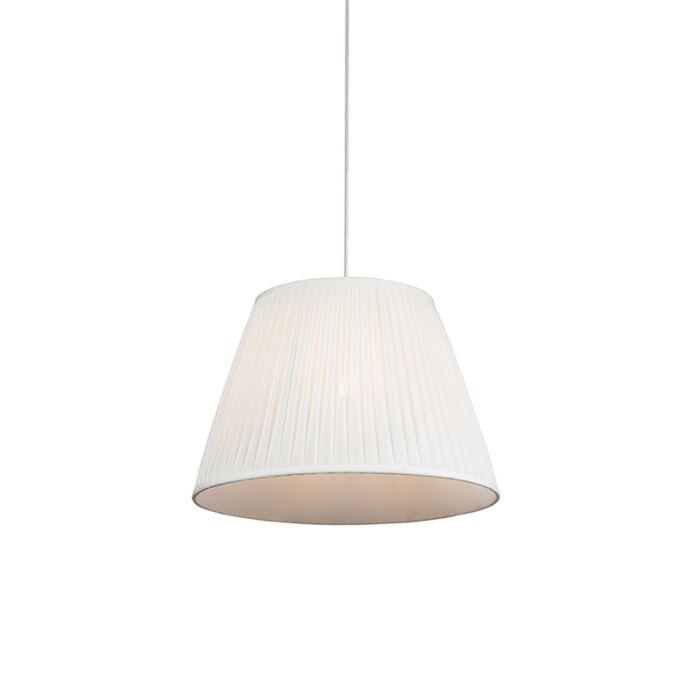 Retro-hanglamp-crème-45-cm---Plisse