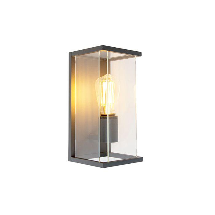 Moderne-rechthoekige-buitenwandlamp-donkergrijs---Zaandam