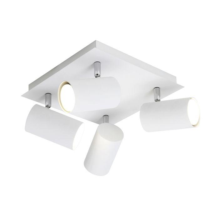 Moderne-vierkante-spot-4-lichts-wit---Marley